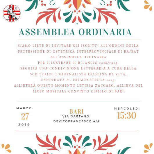 ASSEMBLEA ORDINARIA ORDINE OSTETRICHE